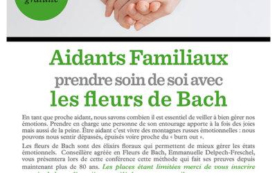 Aidants familiaux, prendre soin de soi avec les fleurs de Bach